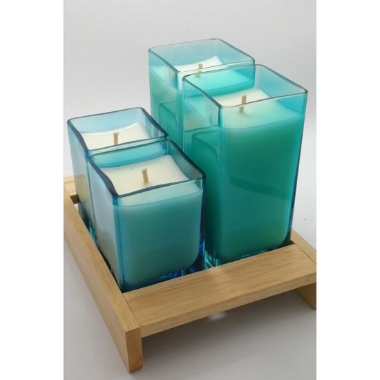 Dört Işık  640 ml - Soya & Coconut Mumu - Sukha (Sandal Ağacı)